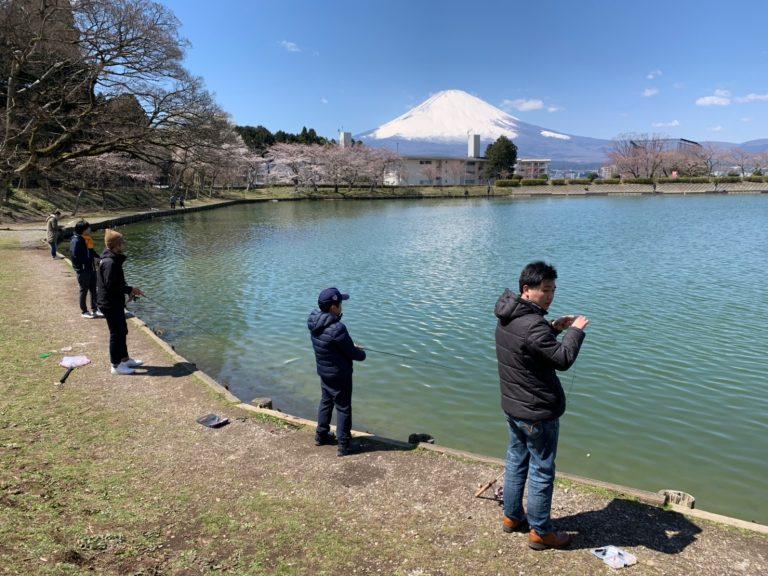 太公望と富士山と ~東山湖フィッシングエリア~