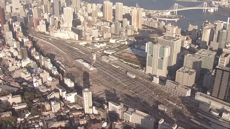 新駅「高輪ゲートウェイ」建設中 12月6日