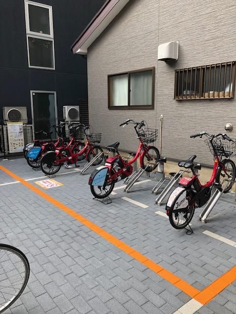 ドコモバイクシェア曙橋駅初のステーション