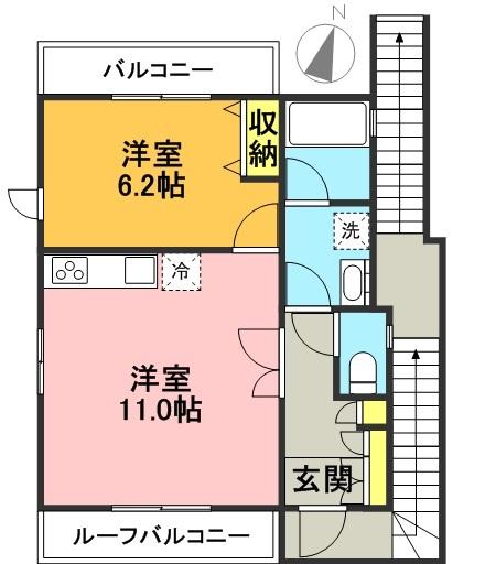 【新着情報!】ライズビーアパート シモタカ 最上階専有物件!