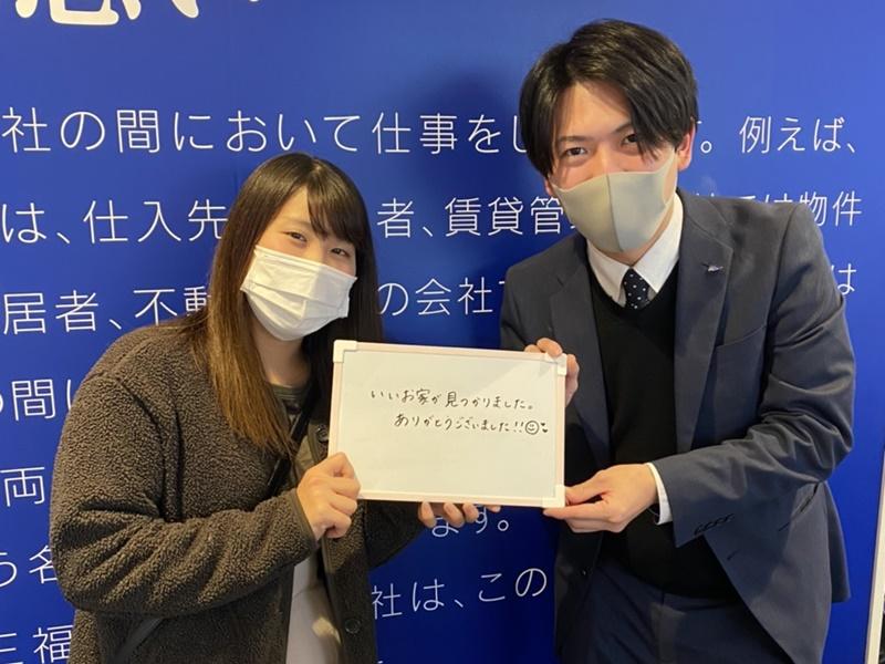 【お客様の声】松山南店・初めての一人暮らしをご相談頂きました