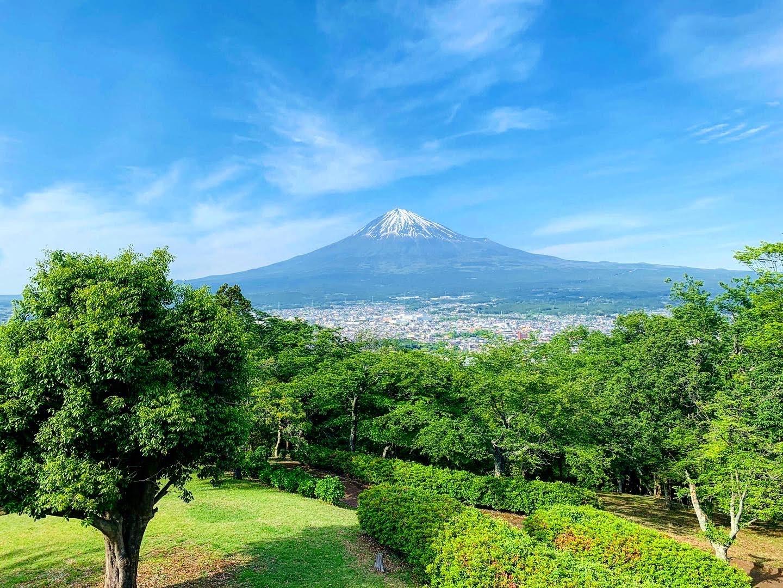 雄大な富士山の麓で♪