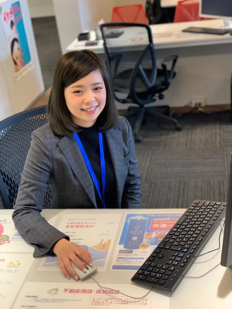 【東京不動産のスタッフ紹介】賃貸営業部の清水美瑞希をご紹介します