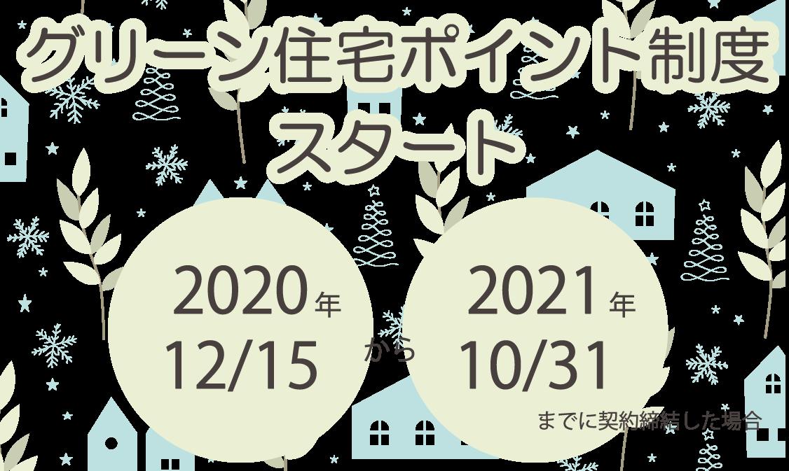 グリーン住宅ポイント制度 12/15~スタートしました!